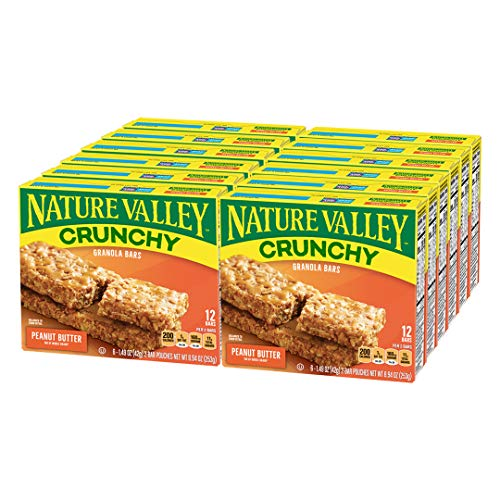 Nature Valley Granola Bars Crunchy Peanut Butter, 8.94 oz