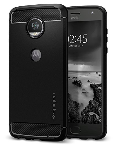 Spigen Rugged Armor Designed for Moto Z2 Play Case (2017) - Black