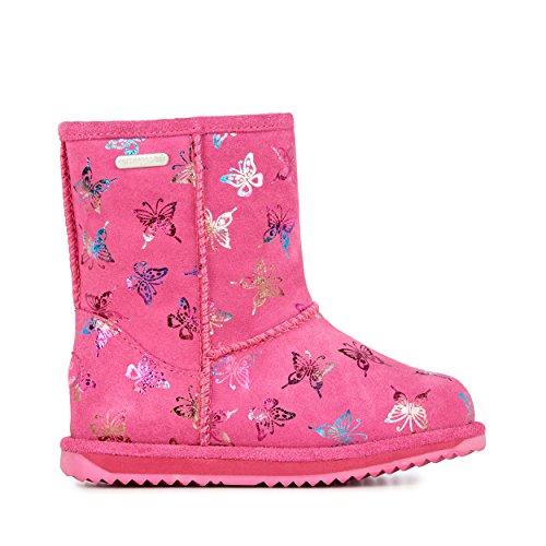 EMU Australia Flutter Brumby Kids Wool Waterproof Boots Size 9 EMU Boots Hot Pink