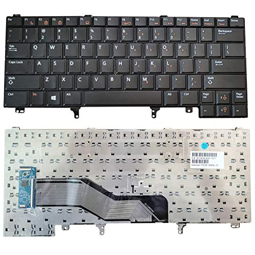 SUNMALL US Layout Replacement Keyboard Without Backlit Compatible with Dell Latitude E5420 E5430 E6220 E6320 E6330 E6420 E6430 E6440 Series (Without Pointer Stick)
