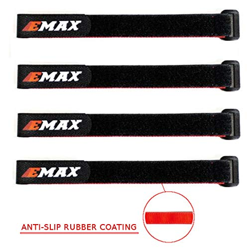 EMAX Battery Strap 10' Inches Rubber Grip for FPV 5inch Drone 4s 5s 6s Set of 4pcs