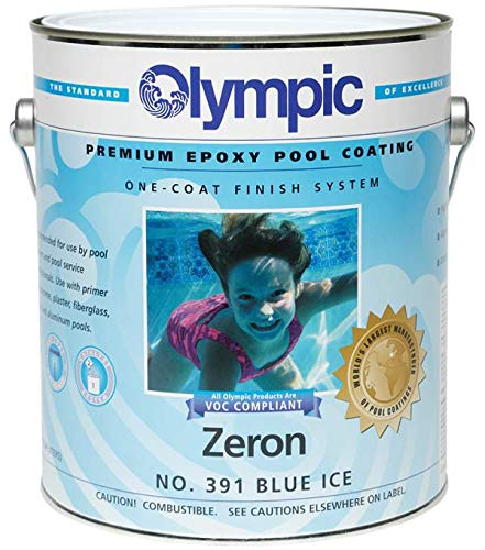 Olympic Zeron One-Coat Epoxy Swimming Pool Paint - 6 Pack Blue Ice