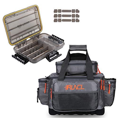 RUNCL Fishing Tackle Storage Bags & Waterproof Storage Box 3600
