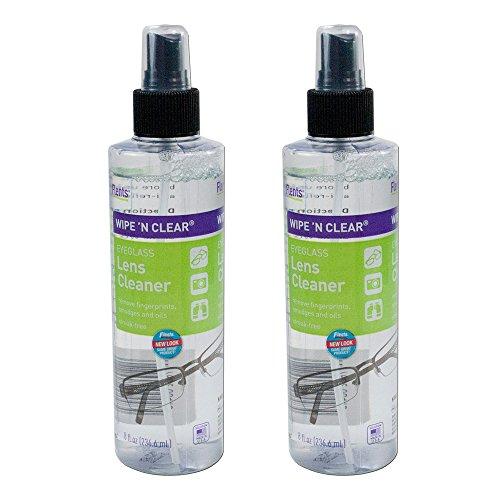 Flents Wipe 'n Clear Spray Lens Cleaner-8 oz, 2 pack