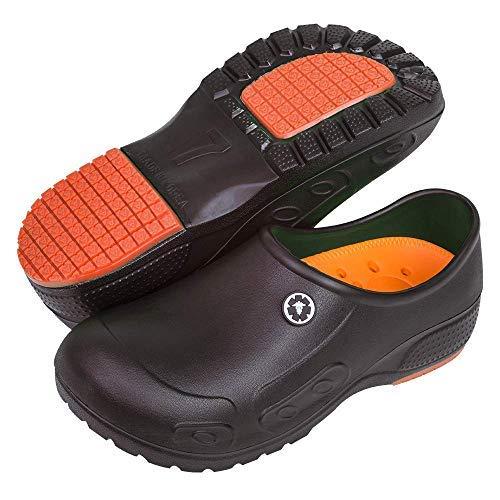 YUNG Professional Slip Resistant Clogs - Chef Clogs, Restaurant Work Shoe, Nurse Shoe, Garden Work Shoe for Men and Women Unisex (Black, Numeric_8_Point_5)