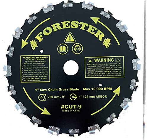 Forester Chainsaw Tooth 9' Brush Blade with 3/16' Round File 2 Piece Bundle
