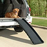 PetSafe Happy Ride Folding Dog Ramp - Portable Lightweight Dog and Cat Ramp - Great for Cars, Trucks and SUVs - Durable Pet Ramp Supports Upto 150 lb - Side Rails and High Traction Surface Design