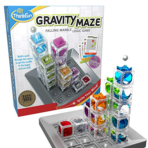 ThinkFun Gravity Maze Marble Run Brain Game and STEM Toy for Boys and Girls Age 8 and Up – Toy of the Year Award Winner