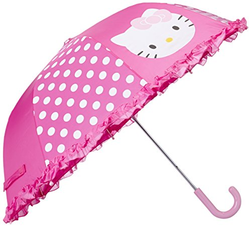 Western Chief Kid's Little Girl Character Umbrella, Hello Kitty Cutie Dot, One Size