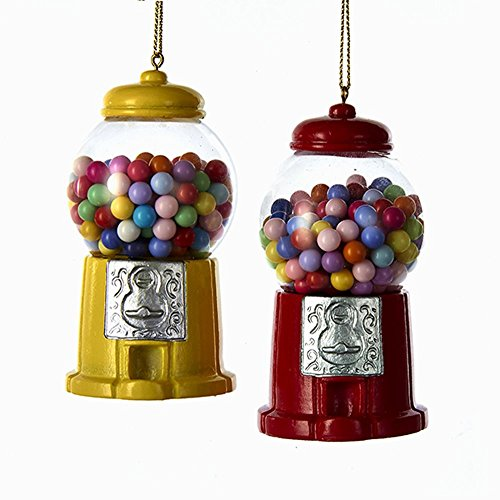 Kurt Adler Gumball Machine Ornament - 2 Assorted Colors: RED and Yellow