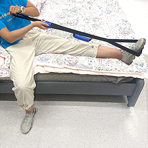 Homymusy Leg Lifter Strap Multi-Loop 41 Inches with Handles -Mobility Aids for Disabled and Elderly,Durable Tool for Hip and Knee Surgery Recovery Kit,Wheelchair