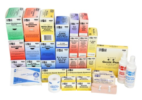 First Aid Only 6175R 757 Piece 4 Shelf First Aid Station Refill, For 100 People