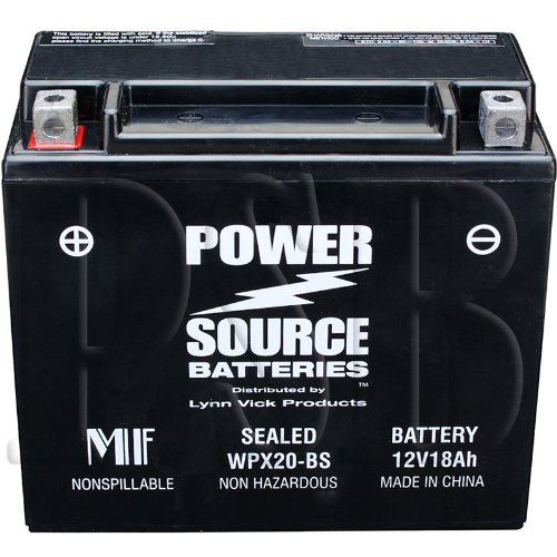 65991-82B, 65991-82A, BB350RP, UBVT-5 Replacement Battery 375cca High Performance WPX20-BS Sealed AGM for Harley Davidson Buell Motorcycle, FXR, Bike