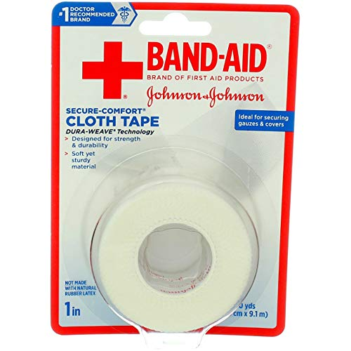 Band-Aid First Aid Cloth Tape 1' x 10 Yds, (Pack of 4)