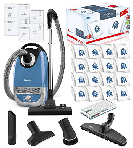Miele Complete C2 Hard Floor Canister HEPA Vacuum Cleaner Bundle - Includes Miele Performance Pack 16 Type GN AirClean FilterBags + HEPA Filter