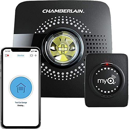MyQ Smart Garage Door Opener Chamberlain MYQ-G0301 - Wireless & Wi-Fi enabled Garage Hub with Smartphone Control, 1 Pack, Black