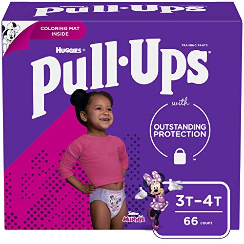Pull-Ups Learning Designs Girls' Training Pants, 3T-4T, 66 Ct