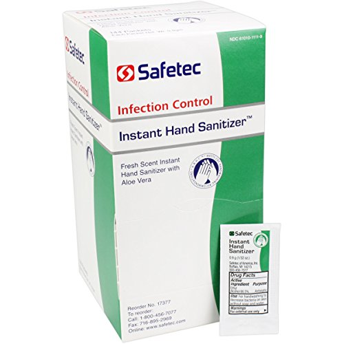 Safe–Tec Hand Sanitizer 1 / 32 Oz Packets 1 Box (144 Packets) by Safetec of America - MS89325