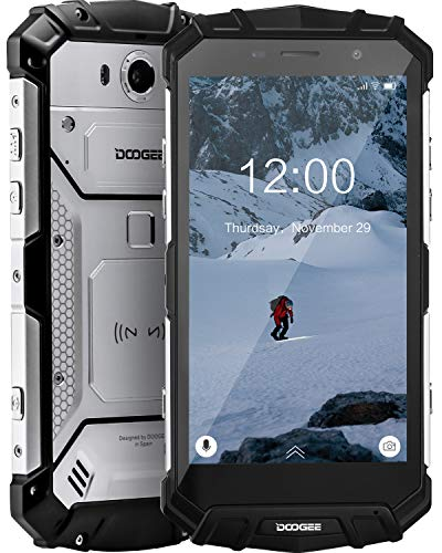 DOOGEE S60 Lite Unlocked Rugged Smartphones, 4G Rugged Cell Phones Android 8.1, 16.0MP+8.0MP Camera 5580mAh, IP68 Waterproof Dropproof Octa-Core 4GB+32GB 5.2 inch, Support NFC Wireless Charging-Silver
