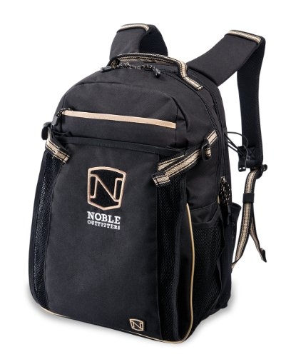 Noble Outfitters Ringside Backpack with Helmet & Laptop Compartment, Water-Repellant and Large Capacity | Black