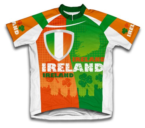 ScudoPro Ireland Short Sleeve Cycling Jersey for Men - Size XL