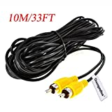 Chuanganzhuo Backup Camera RCA Video Cable,CAR Reverse Rear View Parking Camera Video Extension Cable with Detection Wire (10M/33FT)