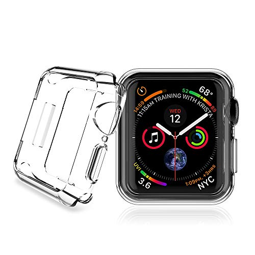 TAURI Case for Apple Watch 44mm Series 4, [Anti-Fingerprint] Flexible Soft TPU [Shock Resistant] Protective Case Cover for Apple Watch Series 4 44mm - Clear