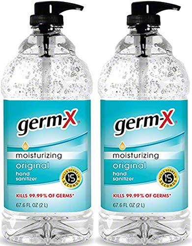 Germ-X Hand Sanitizer Moisturizing with vitamin E - 67.6 oz Pump (2 Pack)
