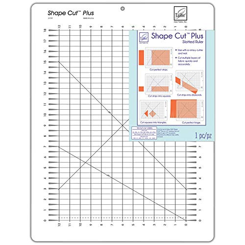 Shape Cut Plus 12 Inch x 18 Inch Slotted Ruler