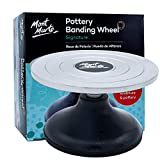 Mont Marte Signature Pottery Banding Wheel, 7in (18cm) Diameter, Sturdy Cast Iron Body with Aluminium Base
