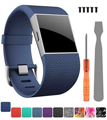 CreateGreat Compatible Fitbit Surge Replacement for Band Strap for Fitbit Surge Watch Fitness Tracker Original Wrist Band Accessories Small&Large