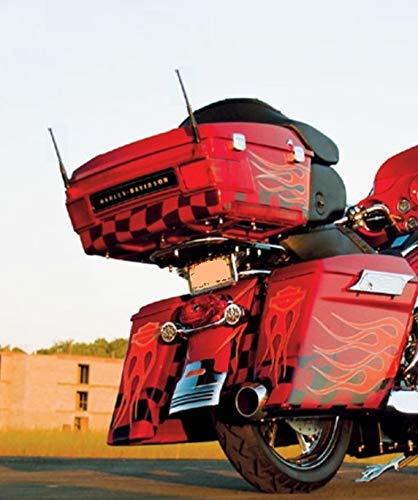 2-Pack Short Whip Metal AM/FM/XM CB Antenna Mast for Harley Davidson 6 3/4 inch New