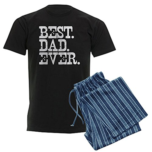 CafePress Best Dad Ever Men's Dark Pajamas Unisex Novelty Cotton Pajama Set, Comfortable PJ Sleepwear