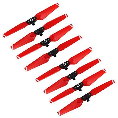 Anbee Spark Propellers 4730F Colored Props Blades for DJI Spark Drone, 8pcs (Red, 2 Sets)
