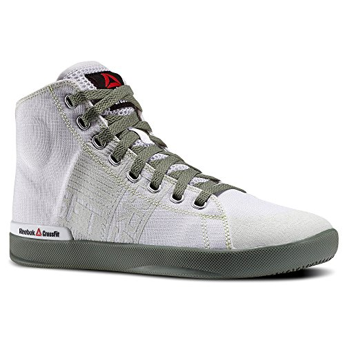 Reebok Women's Crossfit RCF Lite TR TXT Fitness Shoes Mid Top Porcelain/Silvery Green (8)