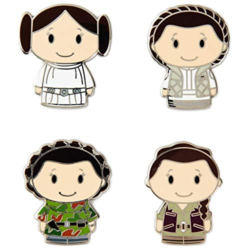 hm itty bittys Star Wars Princess Leia Collectible Enamel Pins, Set of 4 Special Edition