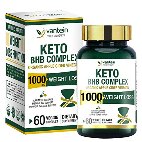 Keto Pills, 60 Capsules Fat Burner & Weight Loss BHB Supplement Formula Keto Burn Diet Pills, Women Men Appetite Suppressant Increases Energy Support, 30 Day Supply
