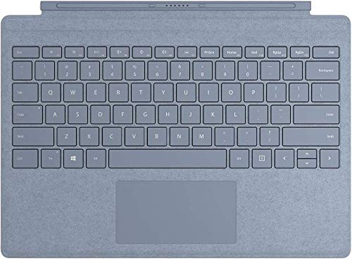 MICROSOFT Surface Accessories MICROSOFT Surface PRO Signature Type Cover - Keyboard - with TRACKPAD - Backlit - QWERTY - US - ICE Blue - Commercial - for Surface PRO 7