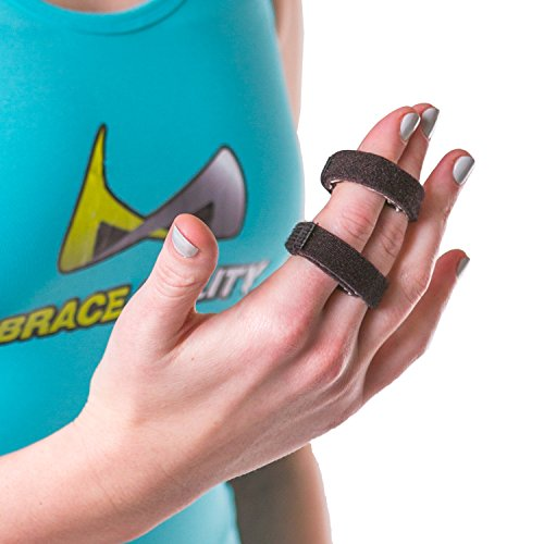 BraceAbility Buddy Tape Finger Splint Wraps | Non-Slip Loop Straps for Treating/Taping a Jammed Finger, Sprained Knuckle, Swollen or Dislocated Joint, Fractured Pinky (Pack of 5)