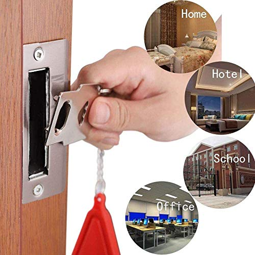 Portable Door Lock, Travel Pocket Lock, Security Device Leaving Home Without Loss, AirBNB Lock