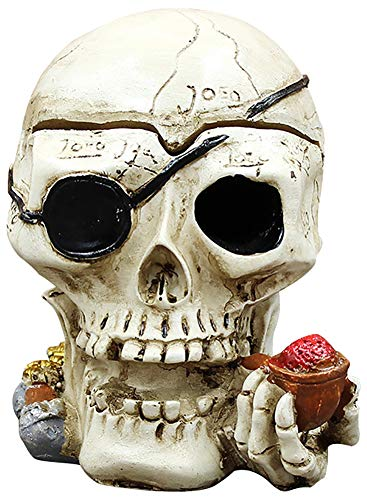 Chiconon Skull Candy Bowl Outdoor Windproof Resin Pen Holder for Weed Cranium Trinket Stash Box Statue for Patio Indoor Restaurant Home Decoration