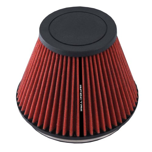 Spectre Universal Clamp-On Air Filter: High Performance, Washable Filter: Round Tapered; 6 in (152 mm) Flange ID; 5.719 in (145 mm) Height; 7.219 in (183 mm) Base; 3.906 in (99 mm) Top, SPE-HPR9606
