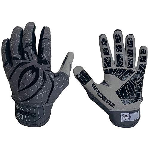Spiderz LITE Adult Baseball/Softball Batting Gloves (Graphite/Black, X-Large)