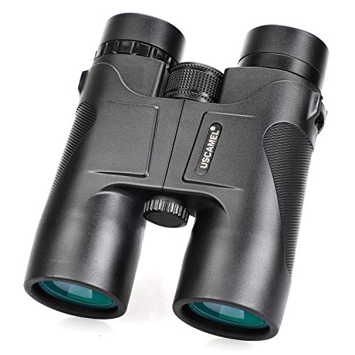 USCAMEL 10x42 Compact Binoculars for Adults, Professional Binoculars with HD Roof Prism Suitable for Bird Watching, Safari Sightseeing, Travel, Camping, Concert