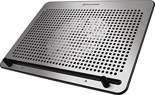 "Thermaltake Massive A21 Aluminum Panel Single 200mm Fan 10""-17"" Laptop Notebook Cooling Pad CL-N011-PL20BL-A, Black"