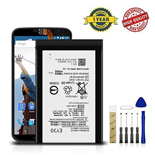 for Verizon Motorola Moto X 2nd Gen 2014 XT1096 Replacement Battery EY30 (SNN5945A) Free Adhesive Tool