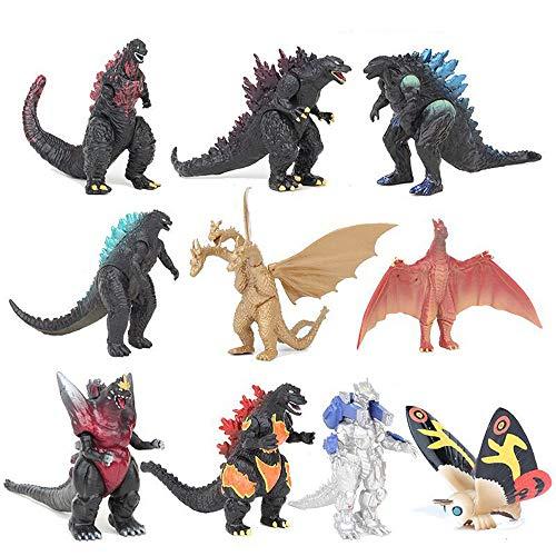 Toy Shimigy 10Pcs/ Set Godzilla 2 Mechagodzilla Gigan Anguirus Action Figure PVC Gift