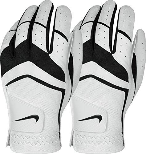 Nike Men's Dura Feel Golf Glove (2-Pack) (White), Small, Left Hand
