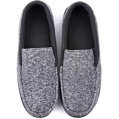 RockDove Men's Moc Slipper with SILVADUR Anti-Odor Fabric, 13, Black
