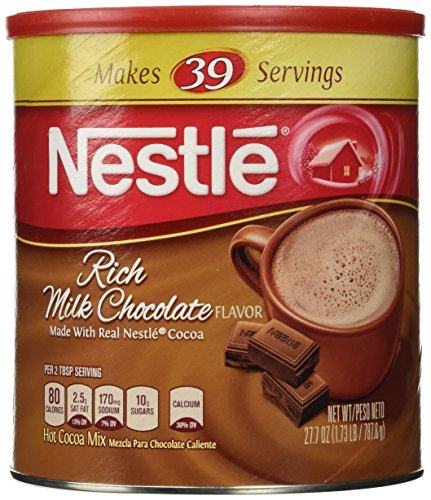 NESTLE Classic Rich Milk Chocolate Hot Cocoa Mix, 27.7 oz. Canister | Hot Chocolate Made with Real Cocoa